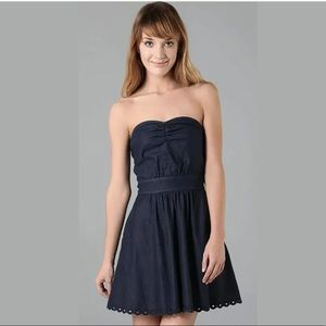 Juicy Couture Strapless Denim Bustier Dress Nikita
